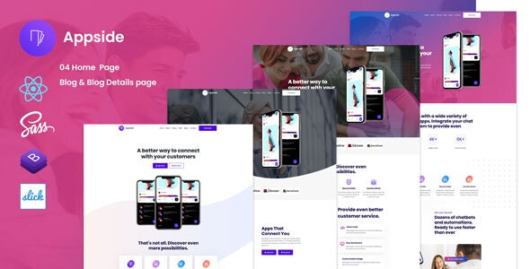 Appside - React App Landing Page - Technology Site Templates