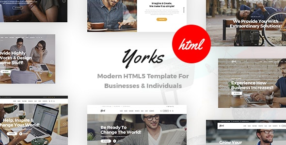 Yorks - Modern HTML5 Template For Businesses & Individuals - Business Corporate