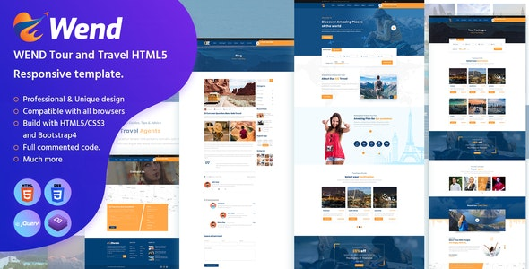Wend - Tour and Travel HTML5 Responsive template - Travel Retail
