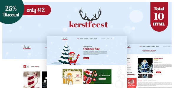 Kerstfeest - Christmas Party & e-commerce HTML Template - Events Entertainment