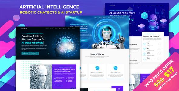 RoboGard - Chatbot & AI Startup Agency Template - Technology Site Templates