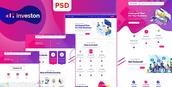 Investon | Business Agency PSD Template - Business Corporate