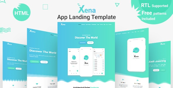 app landing page html template free
