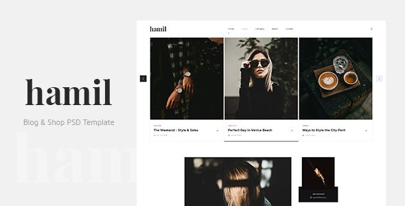 Hamil - Blog & Shop PSD Template - Personal PSD Templates