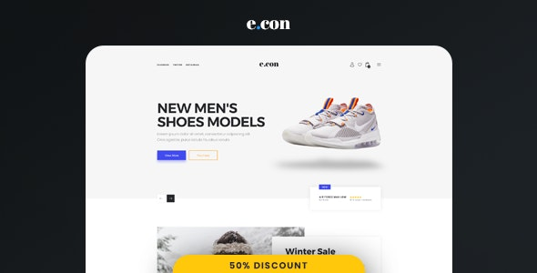 eCon - Modern & Clean  Responsive eCommerce Muse Template - eCommerce Muse Templates