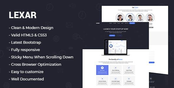 lexar - Software HTML5 Landing Page