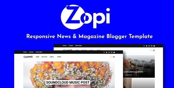 ZopiMag - Responsive News & Magazine Blogger Template - Blogger Blogging