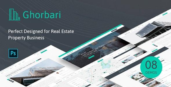 Ghorbari - Real Estate PSD Template - Business Corporate