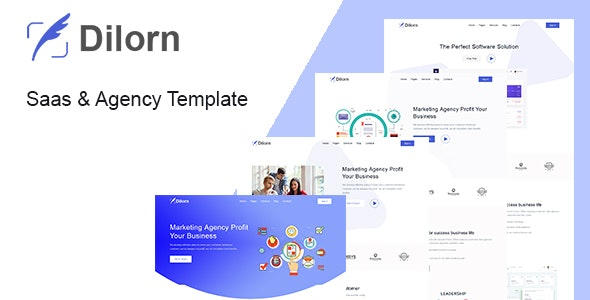 Dilorn - Startup & Agency HTML Template - Technology Site Templates