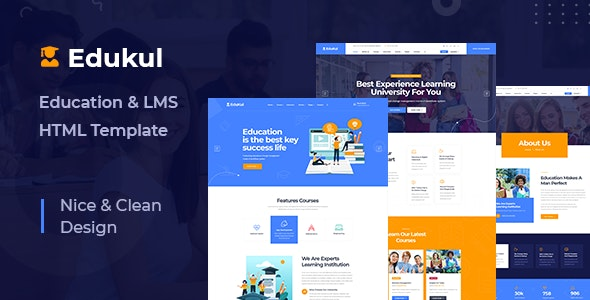 Edukul - Online Learning & LMS HTML Template - Business Corporate