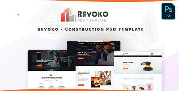 Revoko - Construction PSD Template - Business Corporate