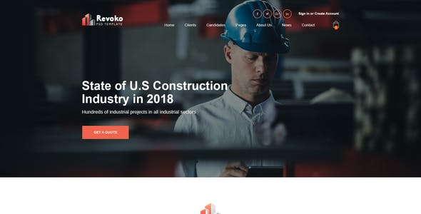 Revoko - Construction PSD Template