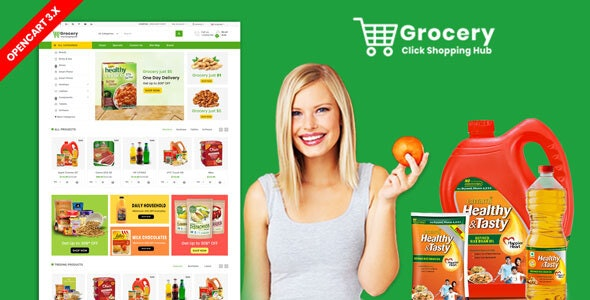 Grocery OpenCart 3.X Multistore Theme (Shopping, Mall) - Shopping OpenCart