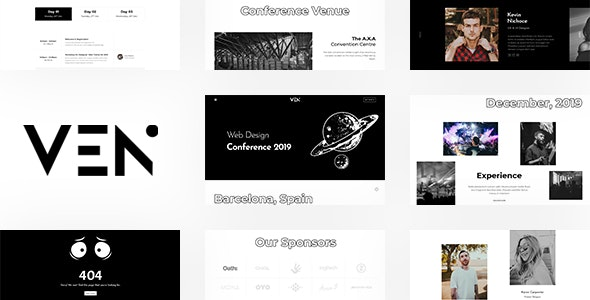 Ven - Creative Event and Conference Template - Creative Site Templates