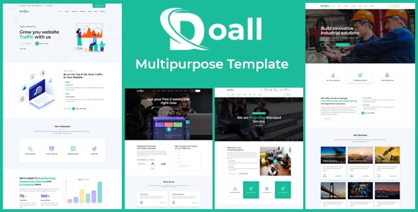 Doall - Responsive Multi Purpose Template - Corporate Site Templates
