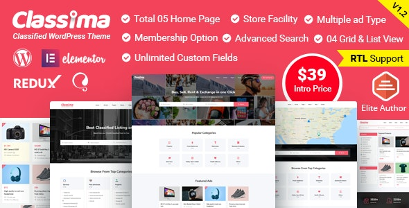 Classima – Classified Ads WordPress Theme - Directory & Listings Corporate