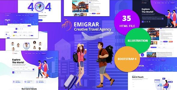 Emigrar - Creative Travel Agency HTML Template - Travel Retail