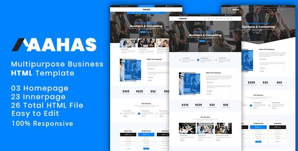 Aahas - Multipurpose Business & Corporate HTML5 Template - Business Corporate
