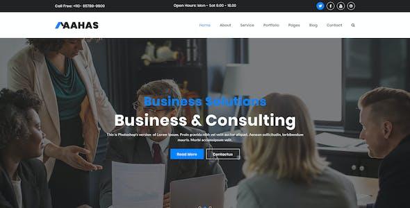 Aahas - Multipurpose Business & Corporate HTML5 Template
