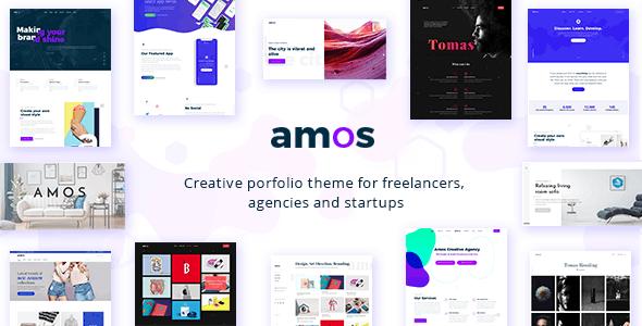 Amos - Creative WordPress - Portfolio Creative