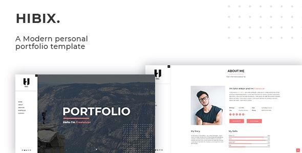 Hibix - Personal Portfolio / Resume - Portfolio Creative