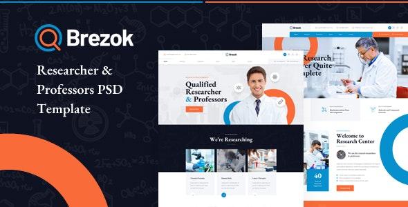 Brezok - Researcher & Professors PSD Template - Business Corporate