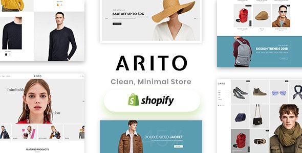 Shopify - Arito Clean, Minimal Store - Fashion Shopify