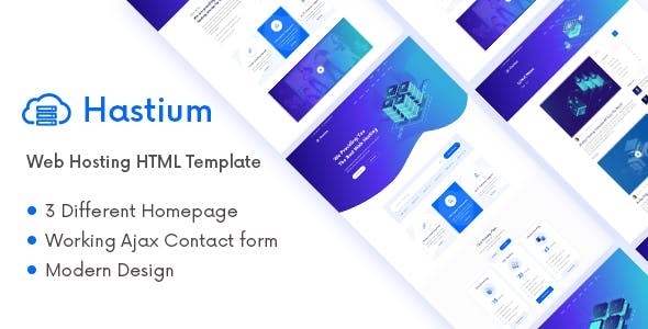 Hastium - Web Hosting and Technology HTML5 Template