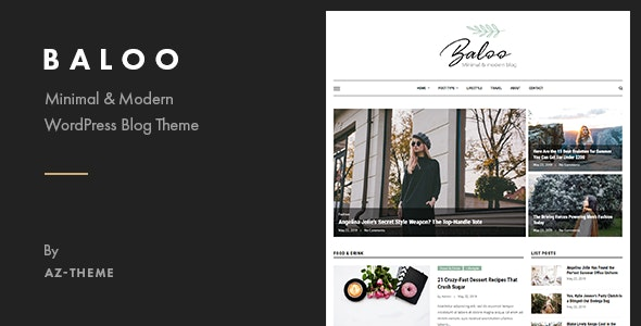 Baloo - Minimal & Modern Blog WordPress Theme - Blog / Magazine WordPress