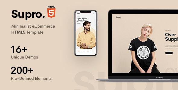 Supro - Minimalist eCommerce HTML Template - Retail Site Templates