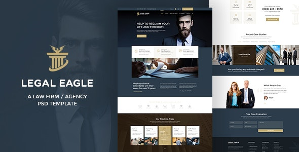 Legal Eagle -  Attorney & Law Agency PSD Template - Business Corporate