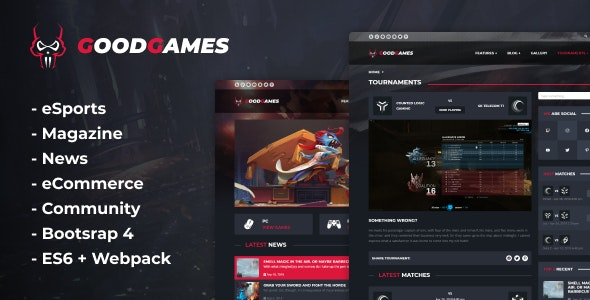 Good Games - eSports & Magazine Gaming Template - Technology Site Templates