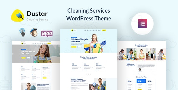 Dustar – Cleaning Services WordPress Theme - Business Corporate