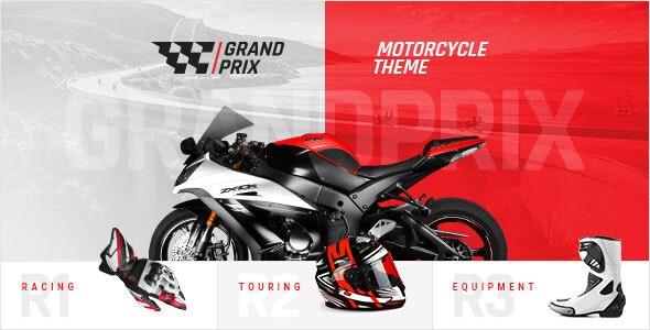 GrandPrix - Motorcycle WordPress Theme - WooCommerce eCommerce