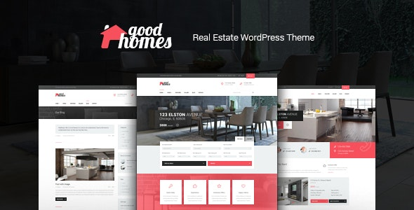 Good Homes | A Contemporary Real Estate WordPress Theme - Real Estate WordPress
