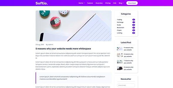 Softio - Software Landing Page