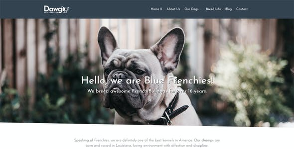 Dawg - WP Dog Breeder theme