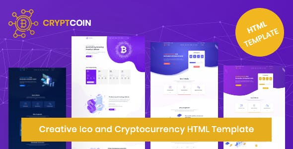 Cryptocoin - Creative ICO and Cryptocurrency HTML Template