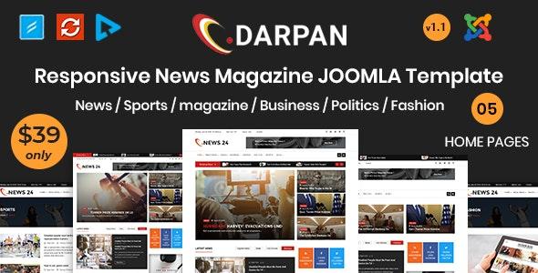 Darpan - News Magazine Joomla Template - Blog / Magazine Joomla