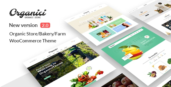 Organici - Organic Store & Bakery WooCommerce Theme - Food Retail