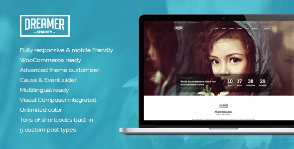 Dreamer - Multipurpose Charity WordPress Theme - Charity Nonprofit