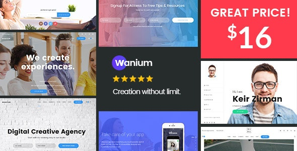 Wanium - A Elegant Multi-Concept Theme - Creative WordPress