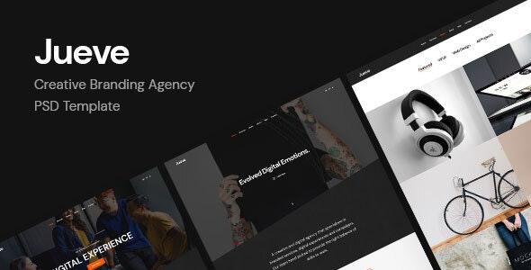 Jueve | Creative Branding Agency PSD Template - Creative PSD Templates