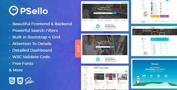 Psello - Classified listing HTML Template - Corporate Site Templates