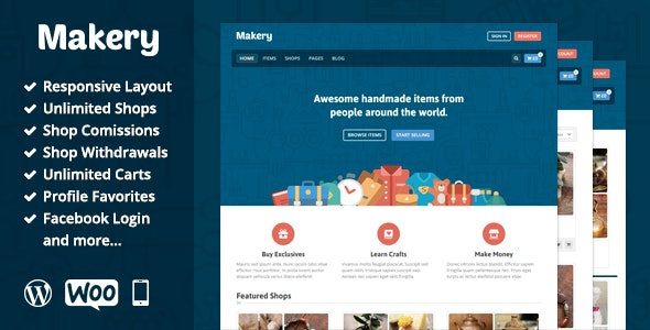 Makery - Marketplace WordPress Theme - WooCommerce eCommerce