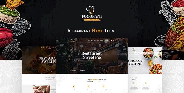 Foodrant - HTML Restaurant Template - Restaurants & Cafes Entertainment