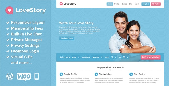 LoveStory - Dating WordPress Theme - Miscellaneous WordPress