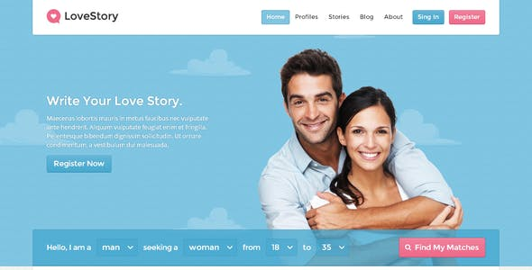 LoveStory - Dating WordPress Theme