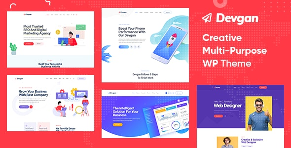Devgan - Creative Multipurpose WordPress Theme - Creative WordPress