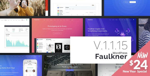 Faulkner - Responsive Multiuse WordPress Theme for Companies and Freelancers - Creative WordPress